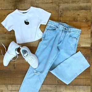 H&M High Waist MOM Jeans - Brand New